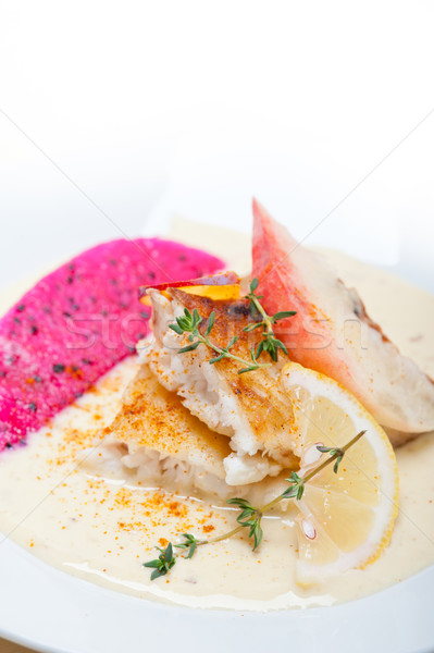Stock photo: sea bream fillet butter pan fried
