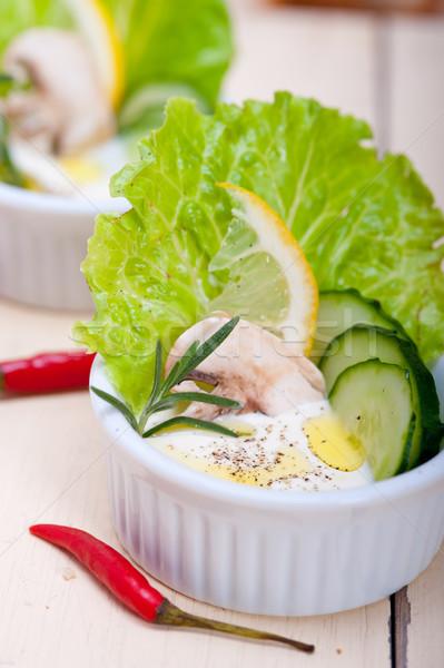 fresh garlic cheese dip salad Stock photo © keko64