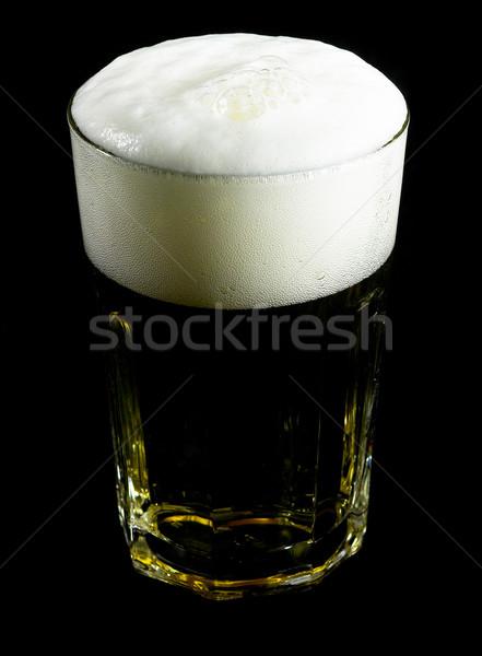 Vetro birra nero sfondo bere Foto d'archivio © keko64
