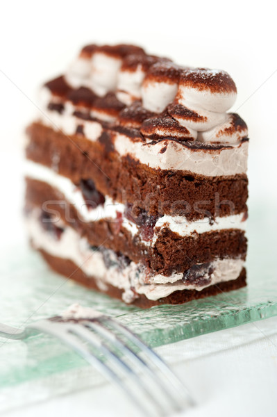 whipped cream dessert cake slice Stock photo © keko64