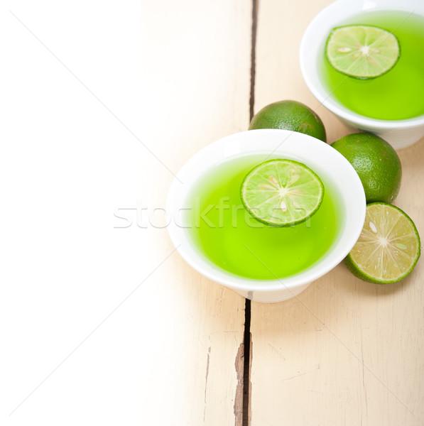 Zielone wapno lemoniada świeże zdrowych makro Zdjęcia stock © keko64