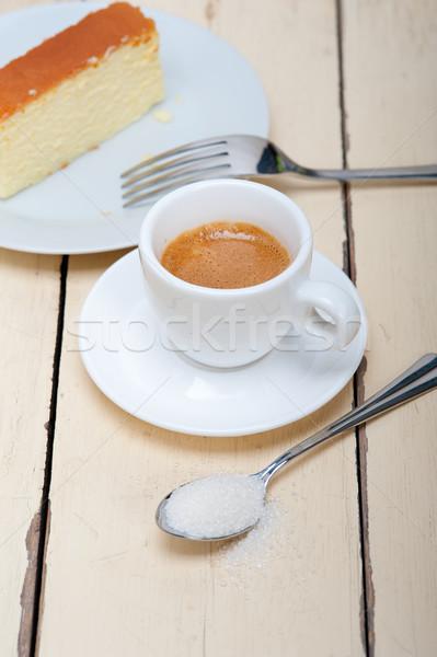 italian espresso coffee and cheese cake Stock photo © keko64