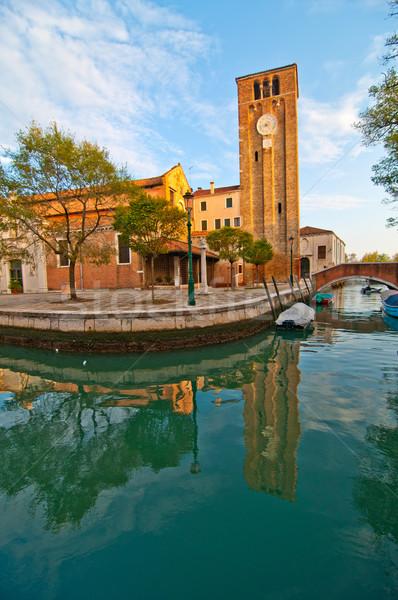 Venice Italy San Nicolo dei mendicoli church Stock photo © keko64