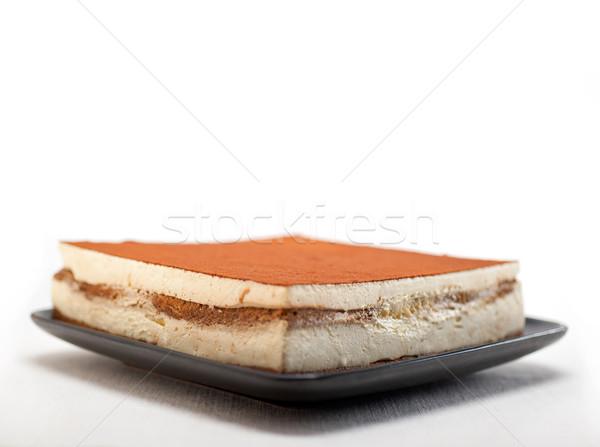 Házi tiramisu desszert klasszikus olasz friss Stock fotó © keko64