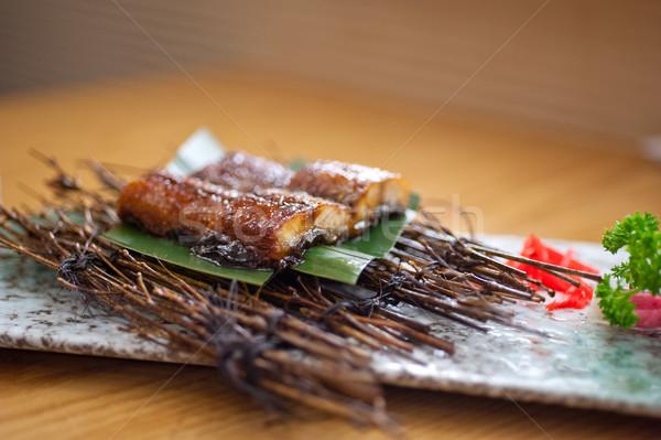 日本語 スタイル ウナギ 務め ヤシの葉 ストックフォト © keko64
