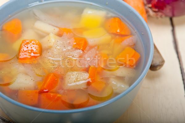 Tradicional italiano sopa rústico tabela ingredientes Foto stock © keko64