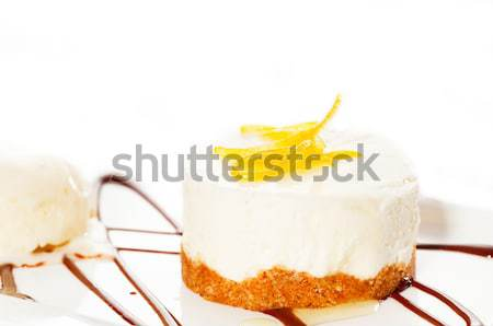 lemon mousse served whith lemon peel on top Stock photo © keko64