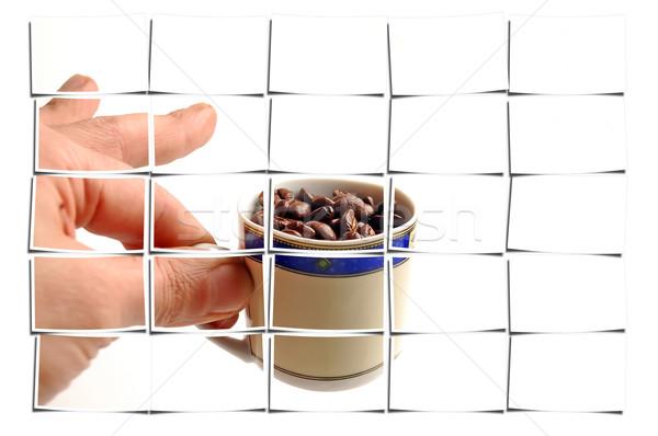 кофе Кубок белый кофе всплеск сельского хозяйства Сток-фото © keko64