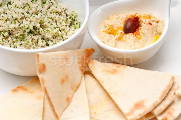 Couscous vers traditioneel arab voedsel witte Stockfoto © keko64