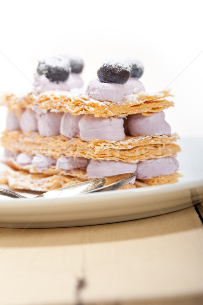 napoleon blueberry cake dessert  Stock photo © keko64