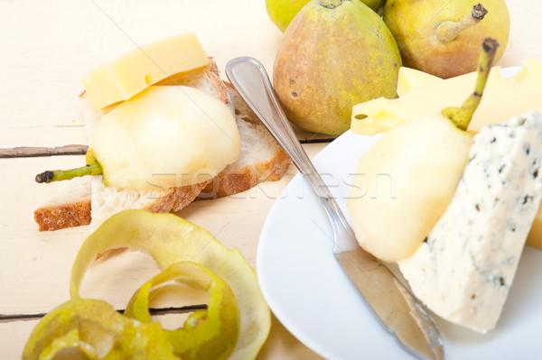 チーズ 梨 異なる 新鮮な 前菜 ストックフォト © keko64