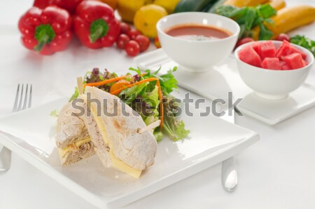 tuna and cheese sandwich with salad Stock photo © keko64