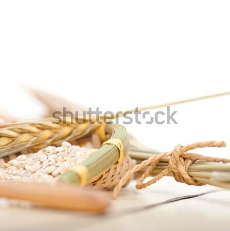 Vers Italiaans tagliatelle eieren pasta eigengemaakt Stockfoto © keko64