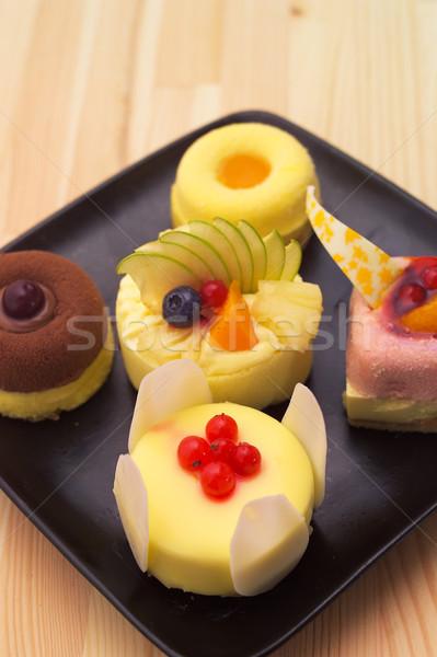 fresh berry fruit cake Stock photo © keko64