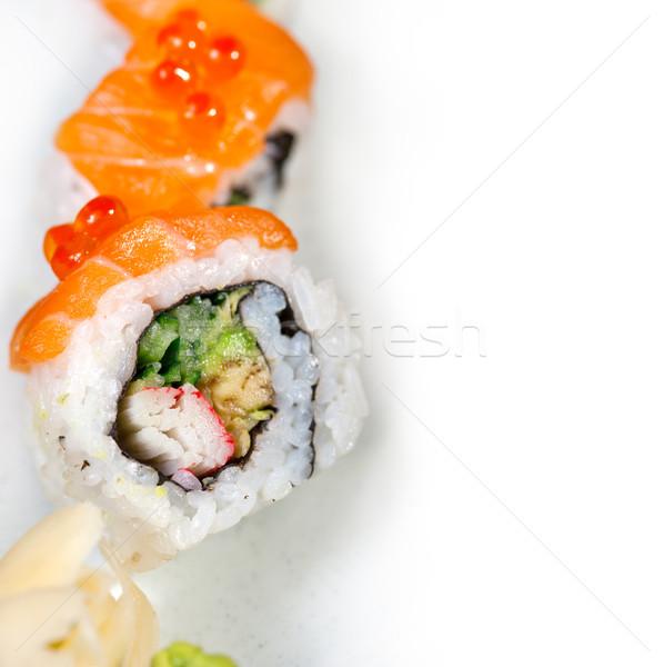 Fresche sushi scelta combinazione macro Foto d'archivio © keko64