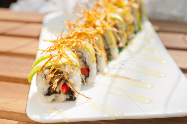 Stock photo: Japanese sushi rolls Maki Sushi
