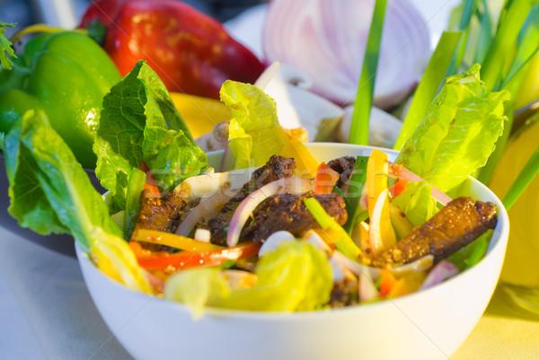 Thai salada fresco carne saladeira Foto stock © keko64