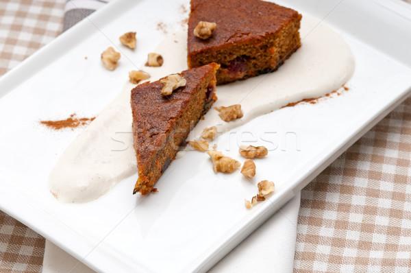Foto stock: Frescos · saludable · zanahorias · torta · postre