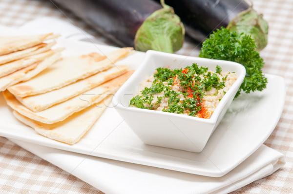 Melanzane fresche tradizionale alimentare pane Foto d'archivio © keko64