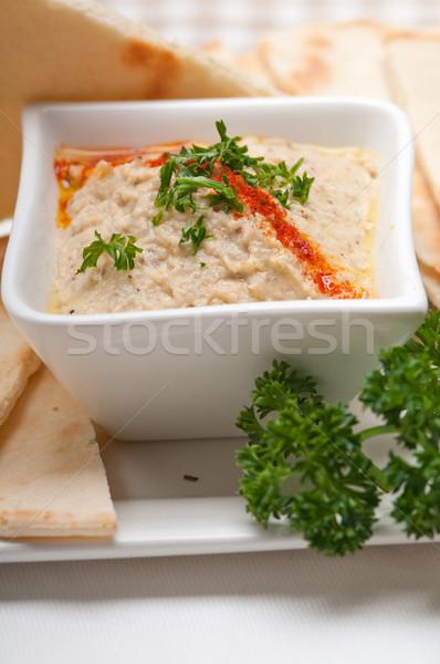 Aubergine vers traditioneel voedsel brood Stockfoto © keko64