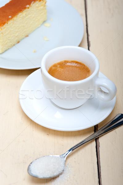 Włoski espresso kawy sernik biały Zdjęcia stock © keko64