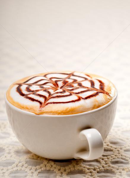 Cappucchino csésze klasszikus olasz dekoráció minta Stock fotó © keko64