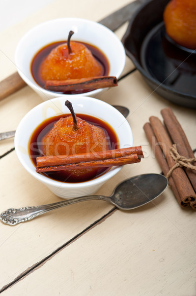 Peras delicioso receta blanco rústico Foto stock © keko64