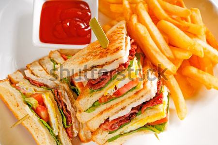 triple decker club sandwich Stock photo © keko64