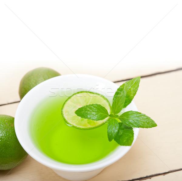 мята вливание чай извести свежие здорового Сток-фото © keko64