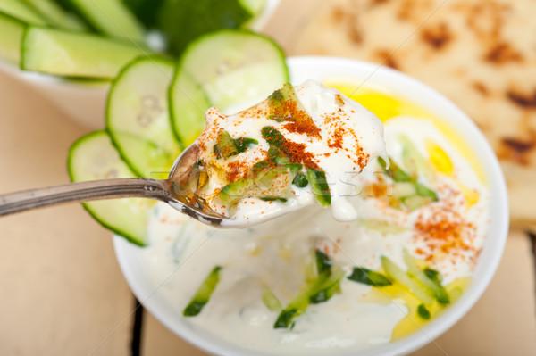 Árabe oriente médio cabra iogurte pepino salada Foto stock © keko64