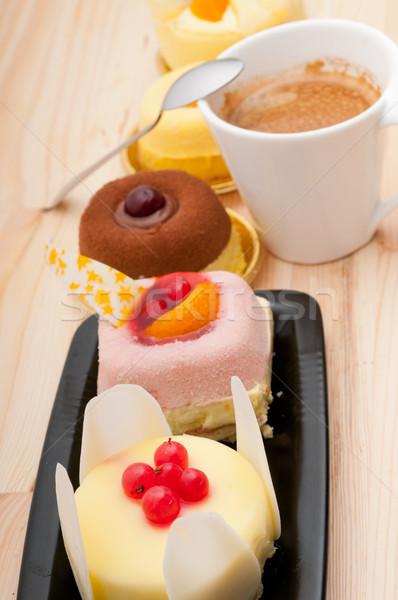 espresso coffee and  fruit cake Stock photo © keko64