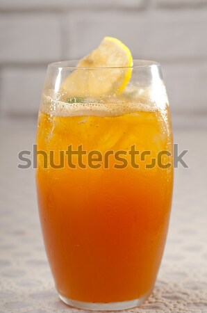 Buzlu çay makro limon nane Stok fotoğraf © keko64