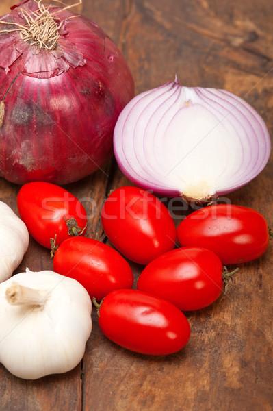 onion garlic and tomatoes Stock photo © keko64