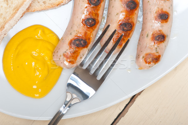 Stock photo: traditional German wurstel sausages