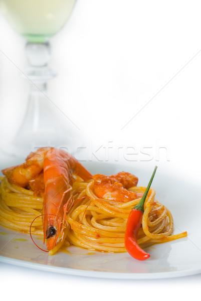 Паста с соусом белое вино