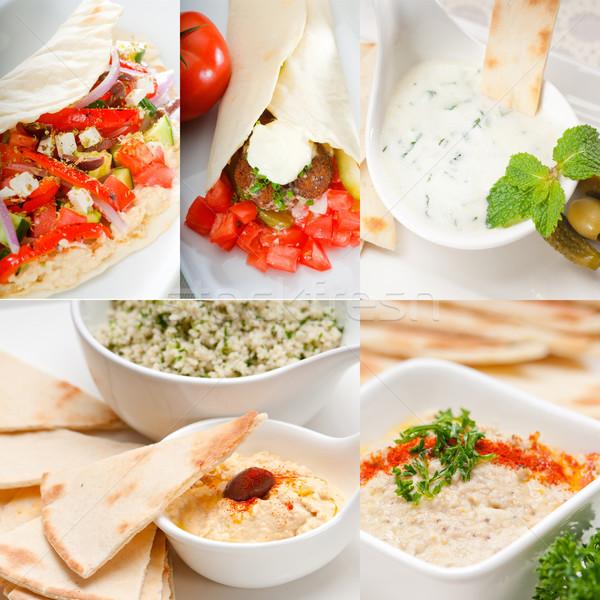 Arab middle east food collection Stock photo © keko64