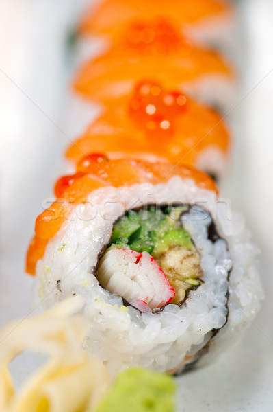 Stock photo: fresh sushi choice combination assortment selection