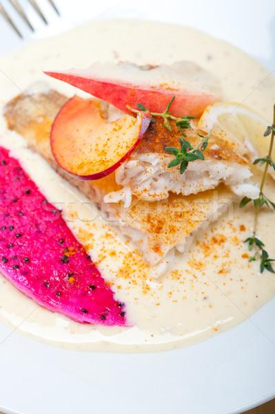 sea bream fillet butter pan fried  Stock photo © keko64