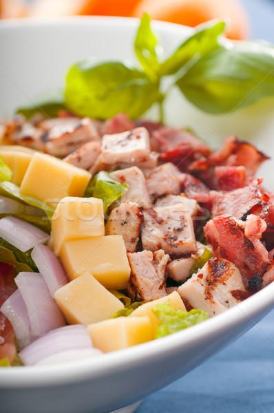 Friss cézár saláta klasszikus egészséges étel több finom Stock fotó © keko64