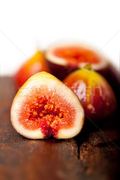 Friss régi fa makró közelkép étel gyümölcs Stock fotó © keko64