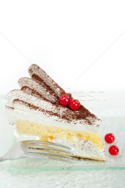 Slagroom dessert cake plakje vers poeder Stockfoto © keko64