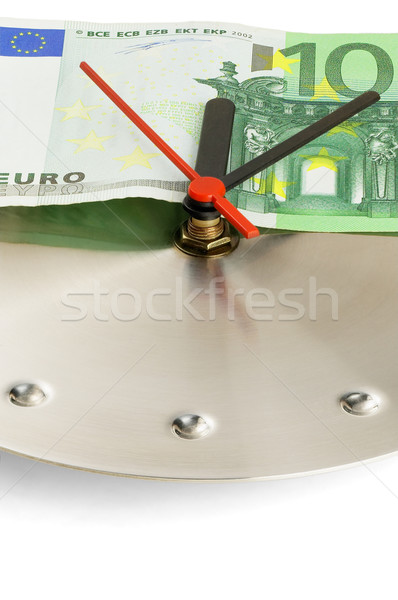 clock and euro bills Stock photo © keko64
