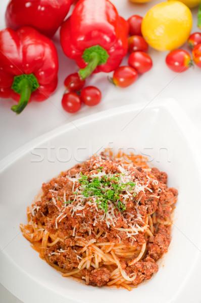 Spaghetti pasta italiana classico verdure fresche Foto d'archivio © keko64