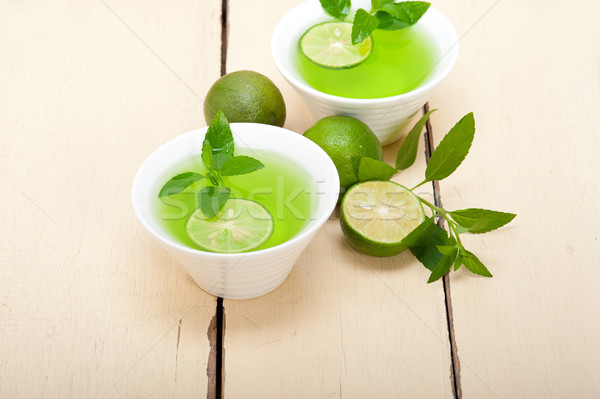 mint infusion tea tisane with lime Stock photo © keko64