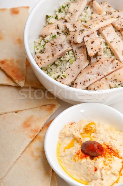 Pollo couscous fresche tradizionale arab alimentare Foto d'archivio © keko64