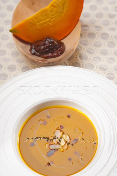 Photo stock: Classique · citrouille · soupe · fraîches · traditionnel · naturelles