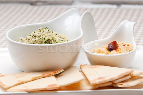 Cuscús frescos tradicional árabes alimentos blanco Foto stock © keko64