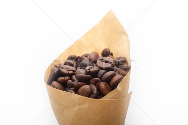 エスプレッソ コーヒー豆 紙 コーン 宝庫 白 ストックフォト © keko64