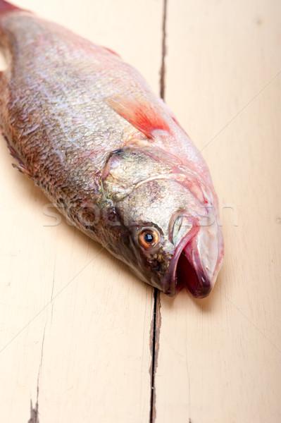 Stock photo: fresh whole raw fish