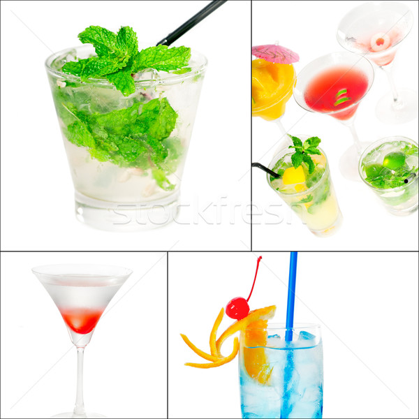 cocktails collage Stock photo © keko64